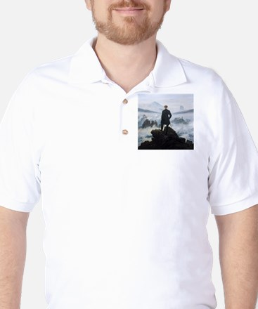 Caspar David Friedrich Wanderer Golf Shirt