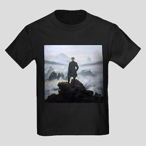 Caspar David Friedrich Wanderer Kids Dark T-Shirt