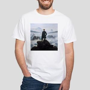 Caspar David Friedrich Wanderer White T-Shirt