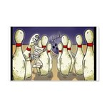 Bowling Pin Living Wills 20x12 Wall Decal