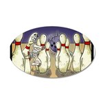 Bowling Pin Living Wills 20x12 Oval Wall Decal