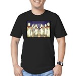 Bowling Pin Living Wills Men's Fitted T-Shirt (dar