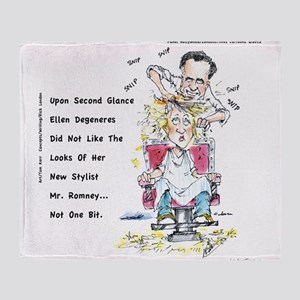 Romney The Bully Cuts Ellens Hair Throw Blanket