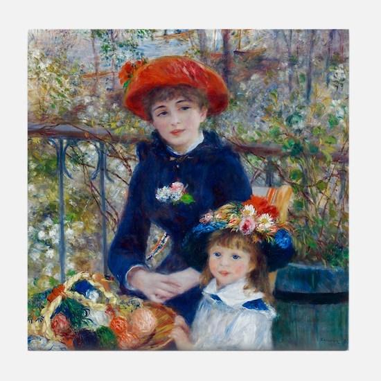 Pierre-Auguste Renoir Two Sisters Tile Coaster