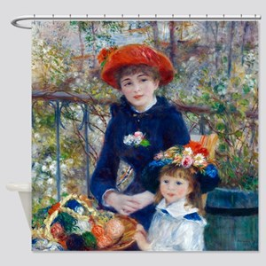 Pierre-Auguste Renoir Two Sisters Shower Curtain