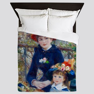 Pierre-Auguste Renoir Two Sisters Queen Duvet