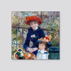 Pierre-Auguste Renoir Two Sisters Square Sticker 3