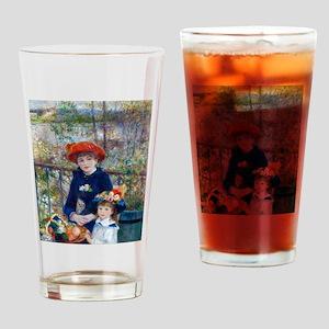 Pierre-Auguste Renoir Two Sisters Drinking Glass