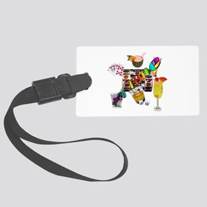Gambler Lets Party Large Luggage Tag