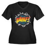 BAMF Women's Plus Size V-Neck Dark T-Shirt