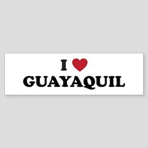 I Love Guayaquil Sticker (Bumper)