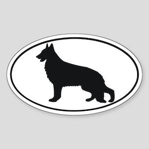 German Shepherd Dog Oval Sticker