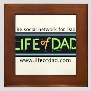Logo with tagline and website Framed Tile