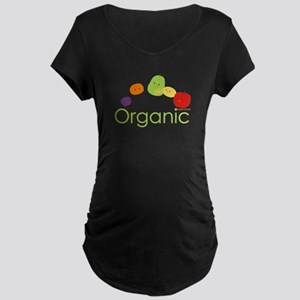 """Organic Fruits 2"" Maternity Dark T-Shirt"