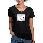 Dog Rescue Newcastle logo Women's V-Neck Dark T-Sh