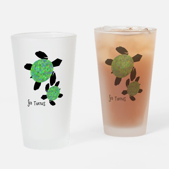 Sea Turtles Drinking Glass