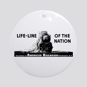 Life-Line Of the Nation 1940 Ornament (Round)