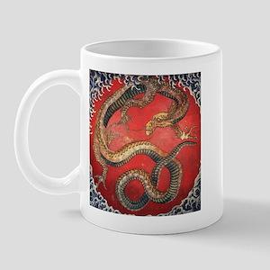 Katsushika Hokusai Dragon Mug