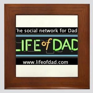 Life of Dad logo w/ tagline & address on black bg