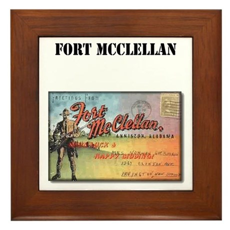 Fort McClellan with Text Framed Tile