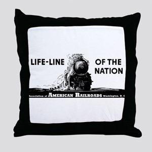 Life-Line Of the Nation 1940 Throw Pillow