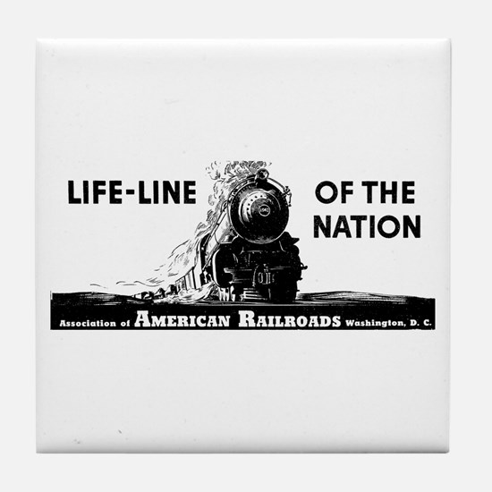 Life-Line Of the Nation 1940 Tile Coaster