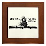 Life-Line Of the Nation 1940 Framed Tile
