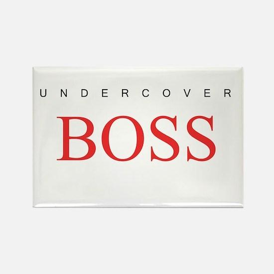 Undercover Boss Rectangle Magnet