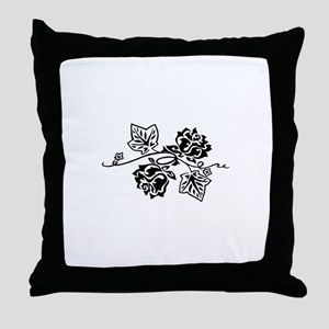 Rose and Ivy Twist Throw Pillow