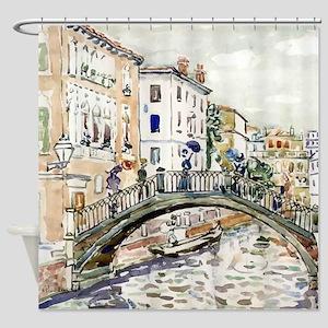 Maurice Prendergast Little Bridge Shower Curtain