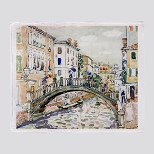 Maurice Prendergast Little Bridge Throw Blanket