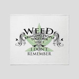 Weed 1 Throw Blanket