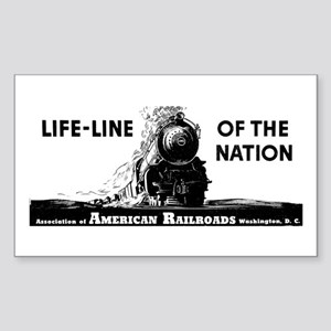 Life-Line Of the Nation 1940 Rectangle Sticker