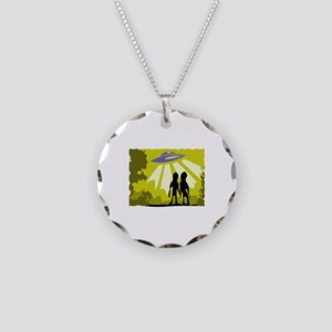 Alien Necklace Circle Charm