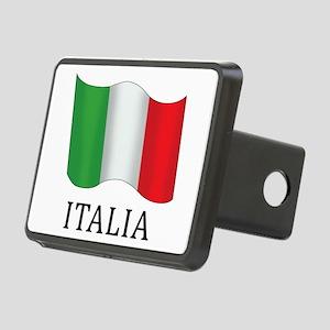 Italia Flag Rectangular Hitch Cover
