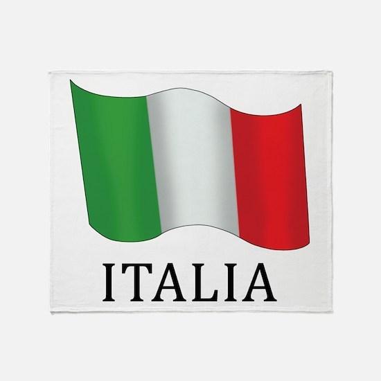 Italia Flag Throw Blanket