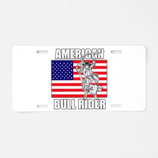 American Bull Rider Aluminum License Plate