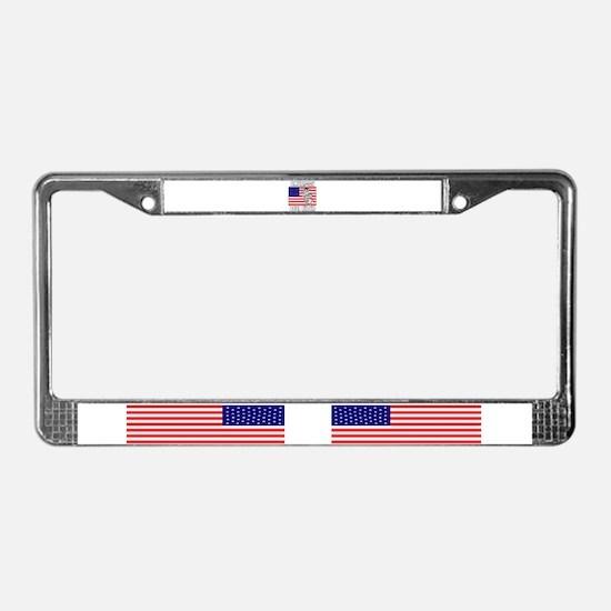 American Bull Rider License Plate Frame
