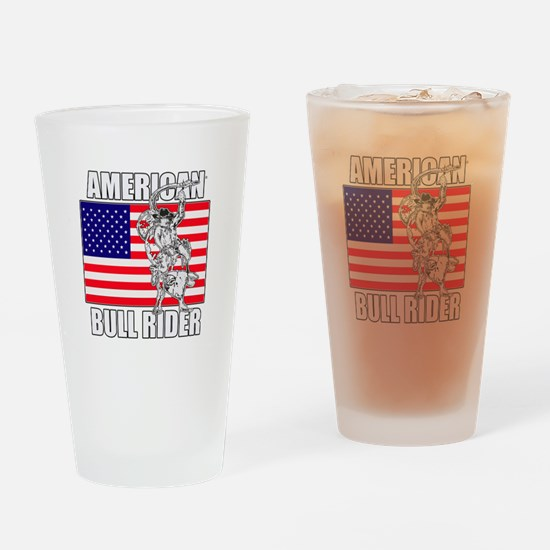 American Bull Rider Drinking Glass