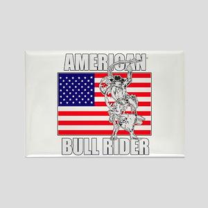 American Bull Rider Rectangle Magnet