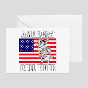 American Bull Rider Greeting Card
