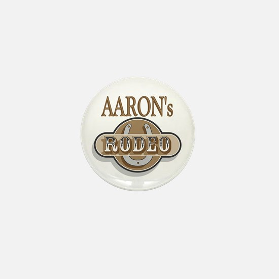 Aaron's Rodeo Personalized Mini Button