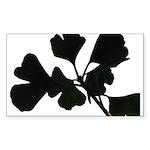 Ginko Tree Leaves Sticker (Rectangle)