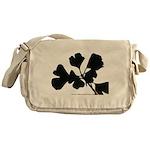 Ginko Tree Leaves Messenger Bag