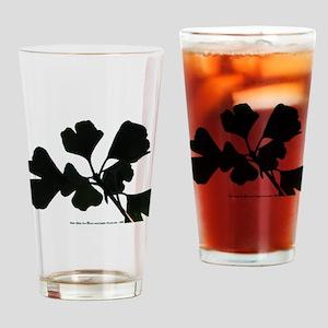 Ginko Tree Leaves Drinking Glass