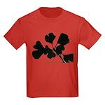 Ginko Tree Leaves Kids Dark T-Shirt