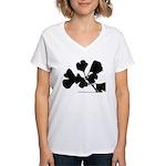 Ginko Tree Leaves Women's V-Neck T-Shirt