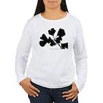 Ginko Tree Leaves Women's Long Sleeve T-Shirt