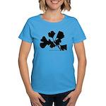 Ginko Tree Leaves Women's Dark T-Shirt