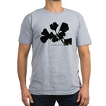 Ginko Tree Leaves Men's Fitted T-Shirt (dark)